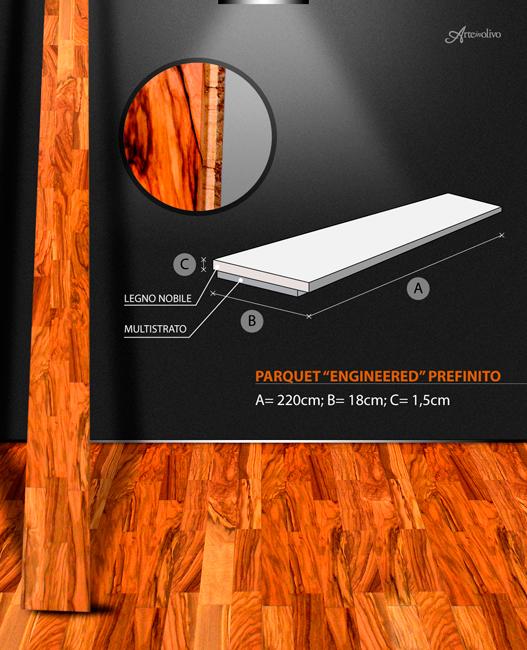 Parquet in legno di olivo - Prefinito plancia
