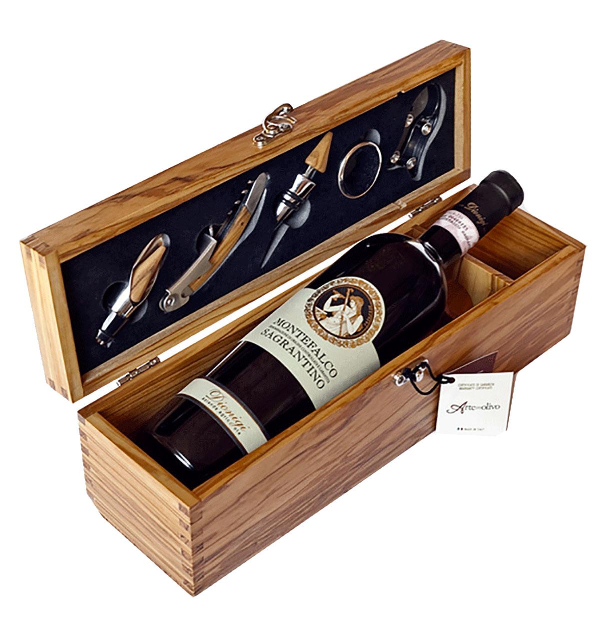 Wine box per sommelier - confezione vino con accessori