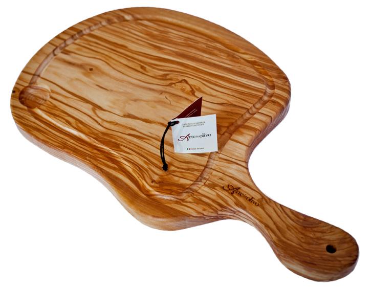 Bistecchiera in legno di olivo
