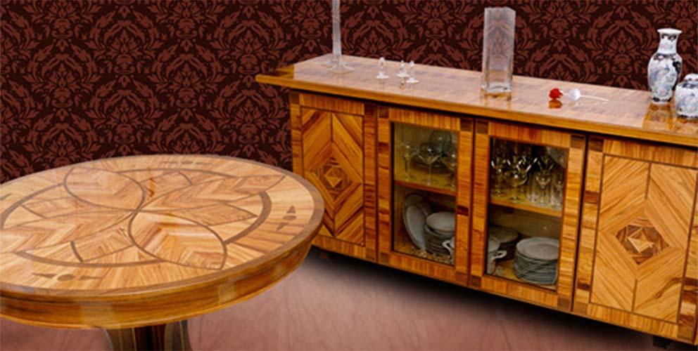 Mobili in legno di olivo