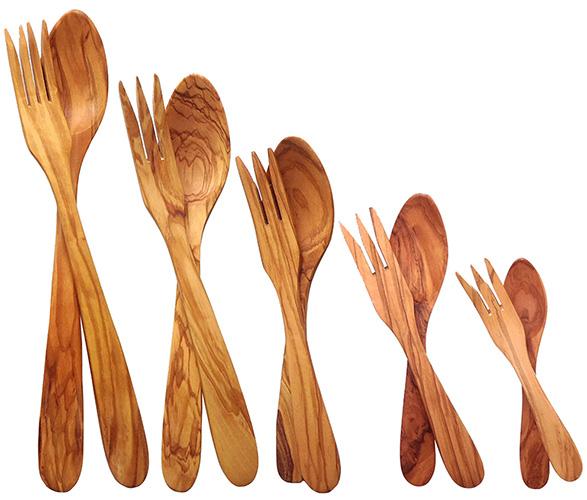 utensili in legno di olivo
