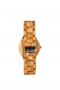 orologio da polso in legno di olivo