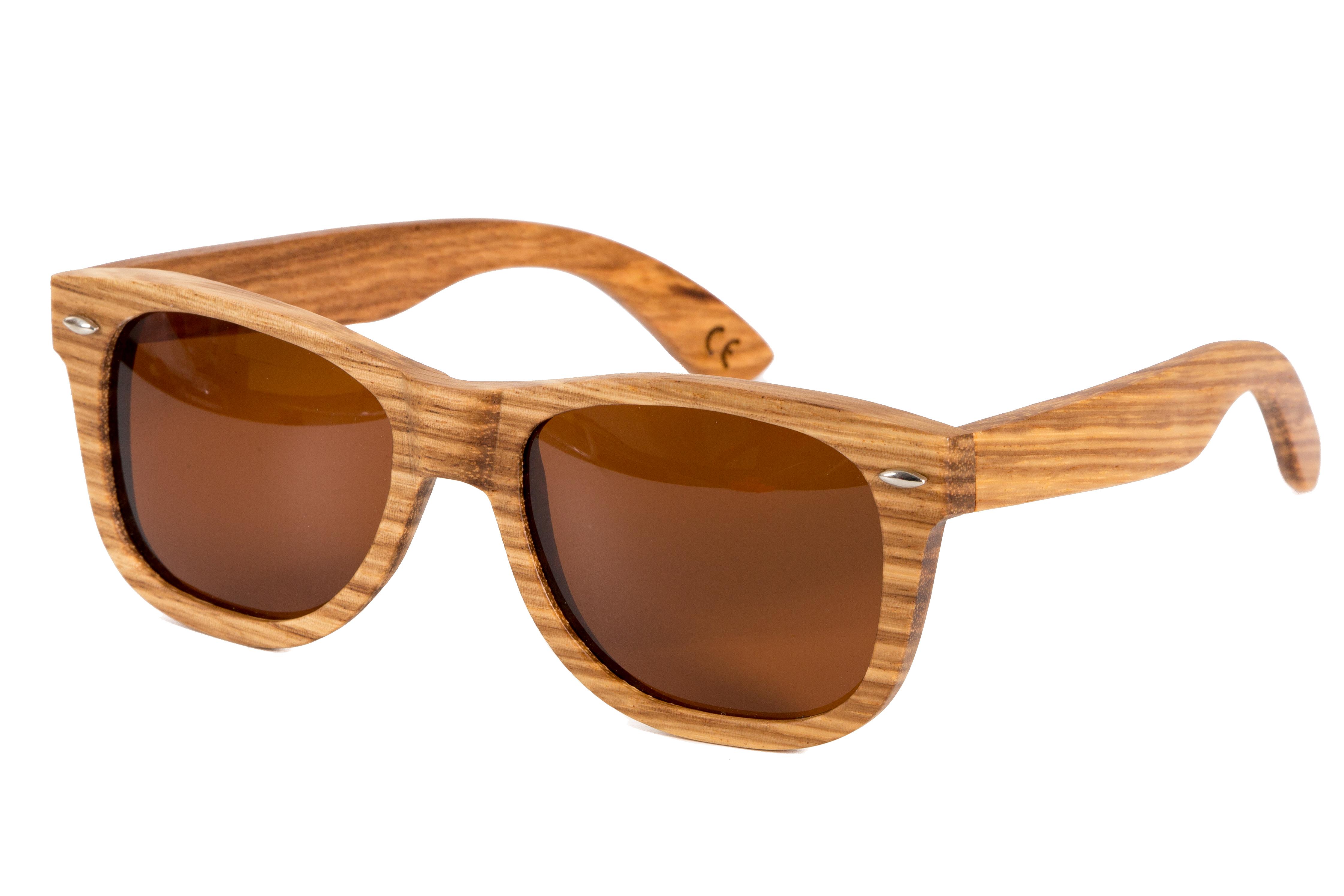 occhiali da sole in legno di olivo